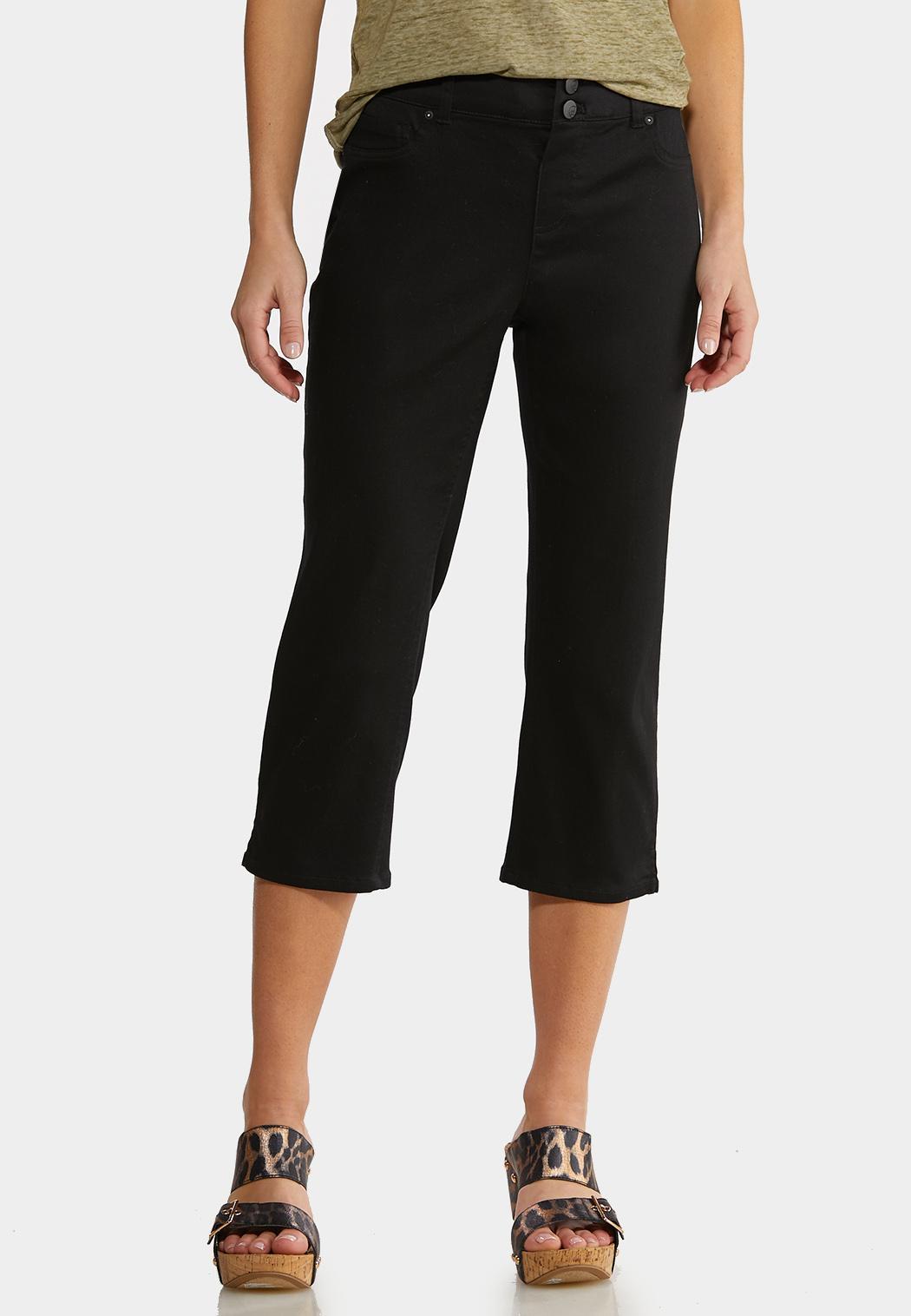 Cropped Black Jeans