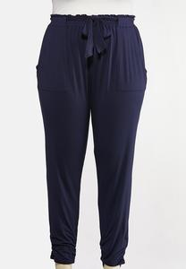 Plus Size Casual Utility Joggers