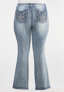 Plus Petite Stone Embellished Jeans