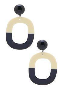 Cutout Hoop Resin Earrings