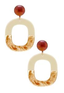 Cutout Hoop Resin Earrings