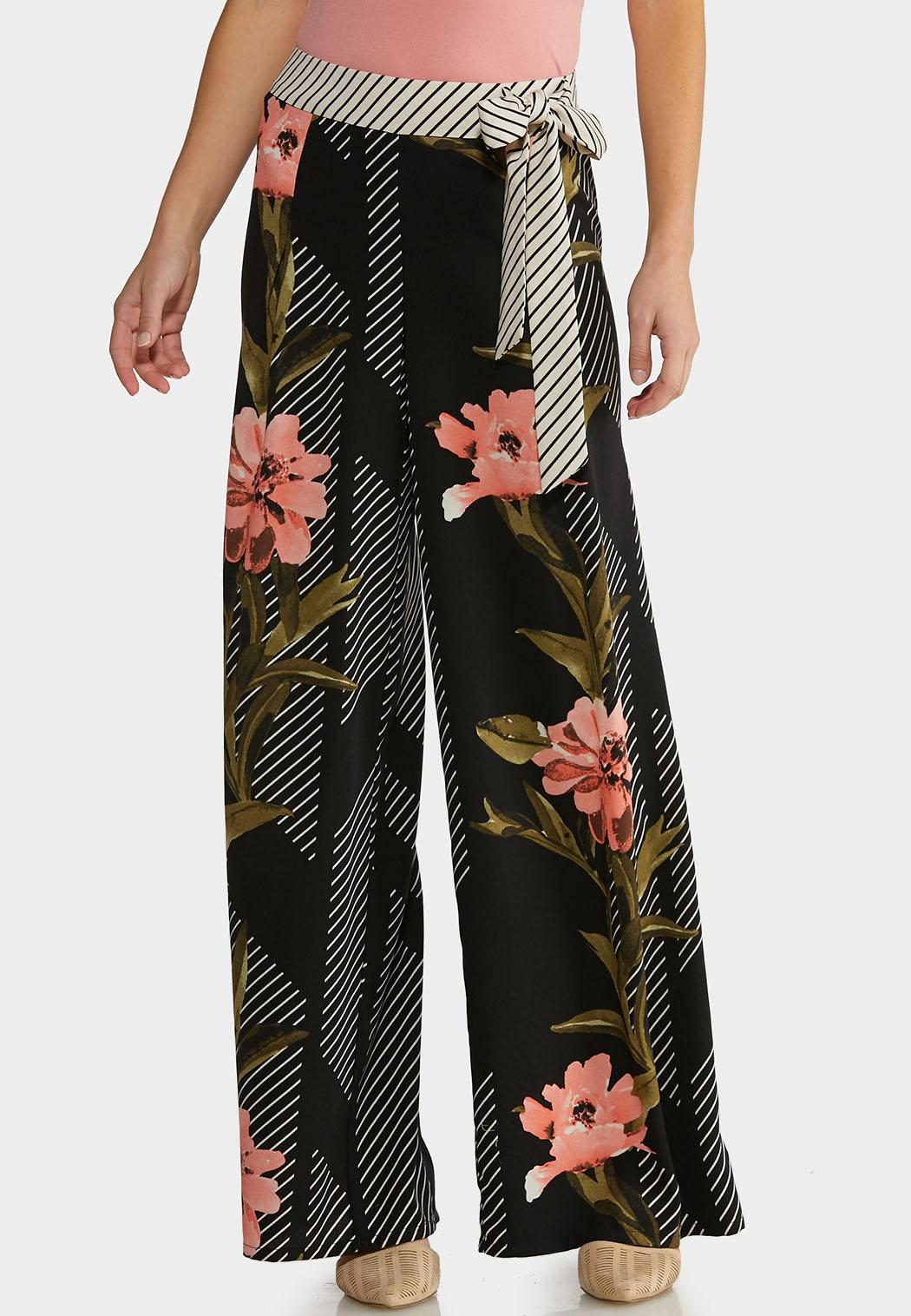 Floral Jungle Stripe Pants