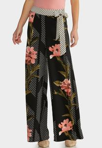 Floral Jungle Stripe Pants