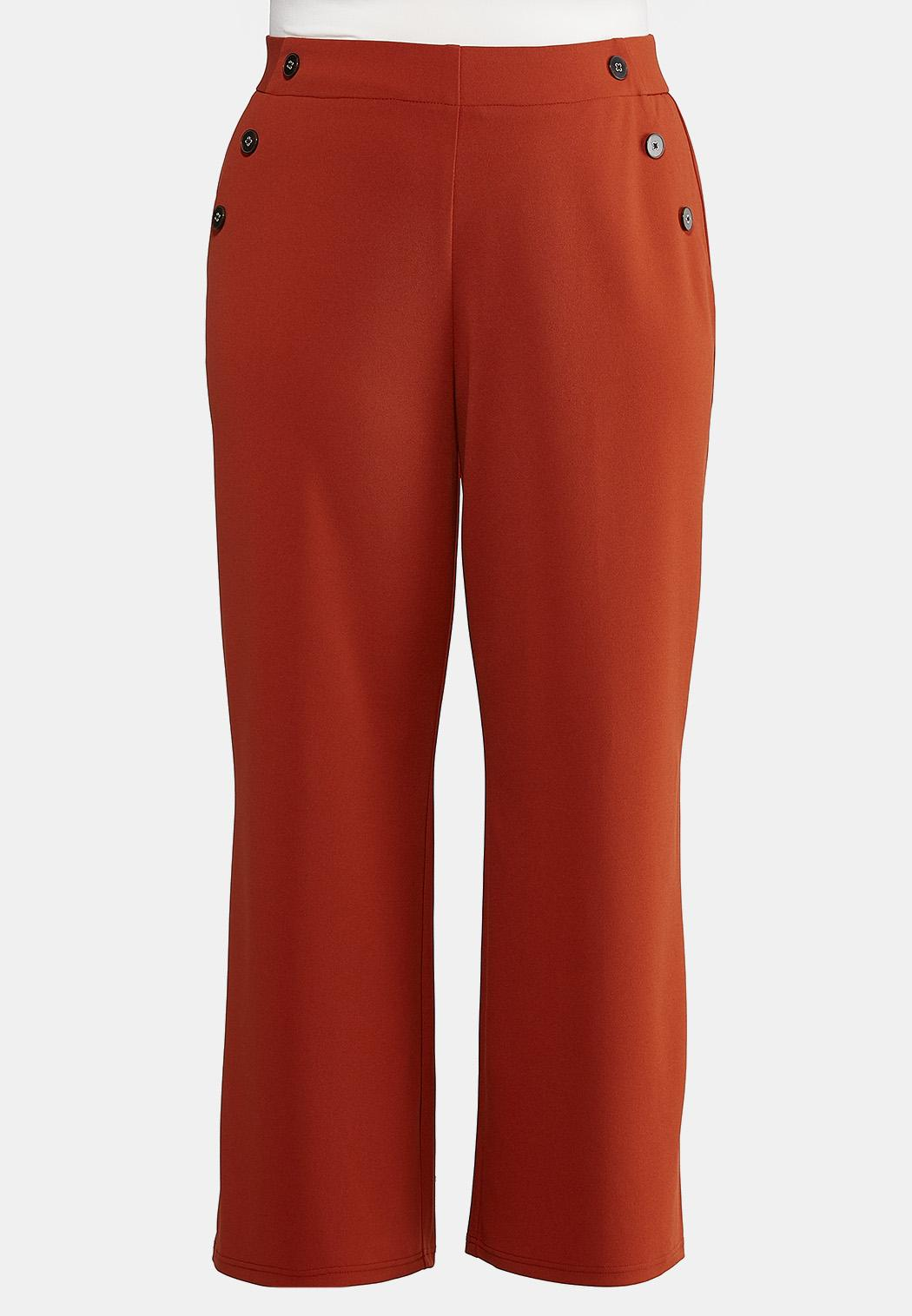 Plus Size High-Rise Trouser Pants
