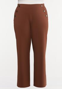 Plus Size High-Rise Trouser Pants