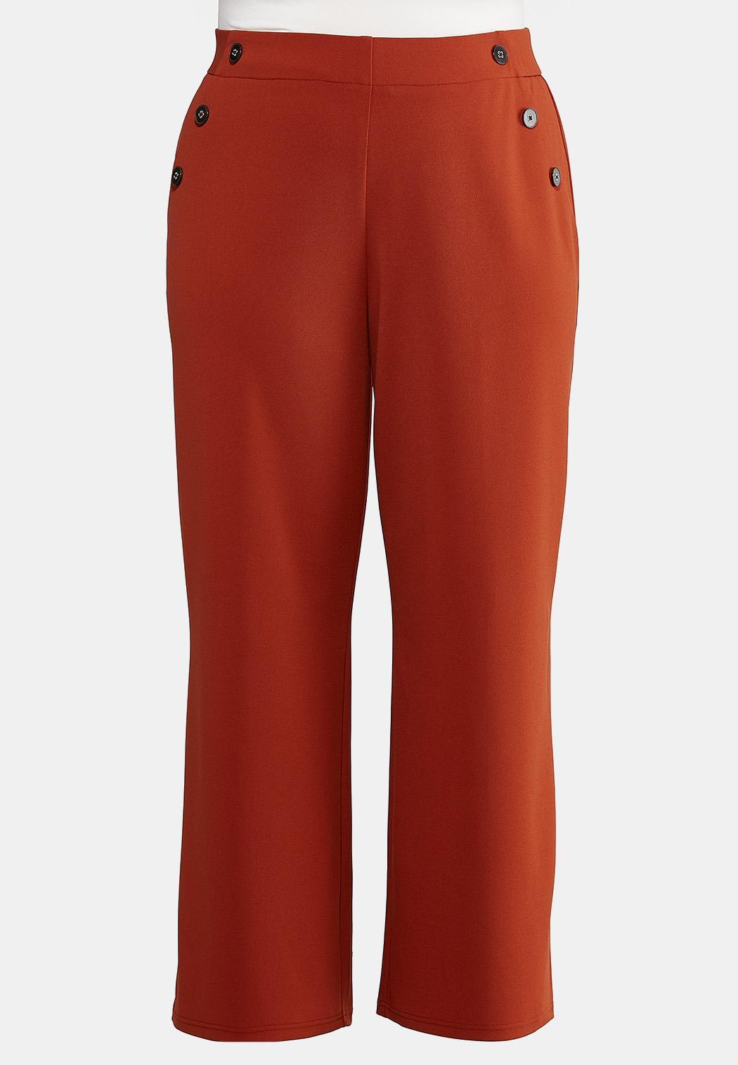 Plus Petite High-Rise Trouser Pants