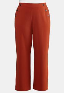 Plus Petite High-Rise Trouser Pants