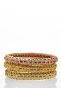 Raffia Bangle Bracelet Set