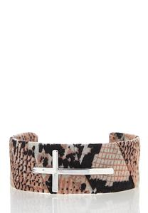 Animal Cross Cuff Bracelet