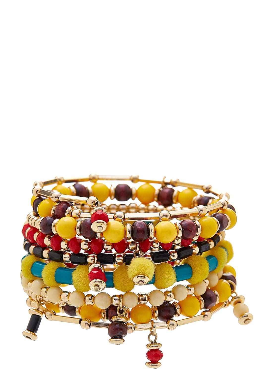 Fiesta Bead Coil Bracelet