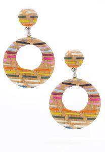 Rafia Weave Earrings