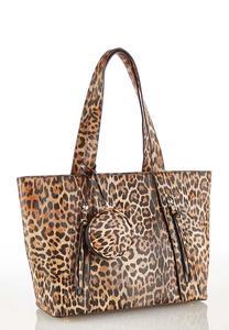 Leopard Zip Front Tote