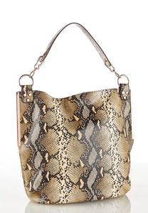 Snakeskin Hobo Handbag
