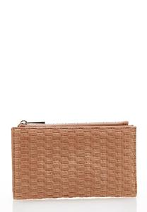 Textured Faux Leather Wallet