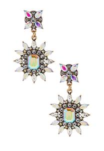 Iridescent Burst Dangle Earrings