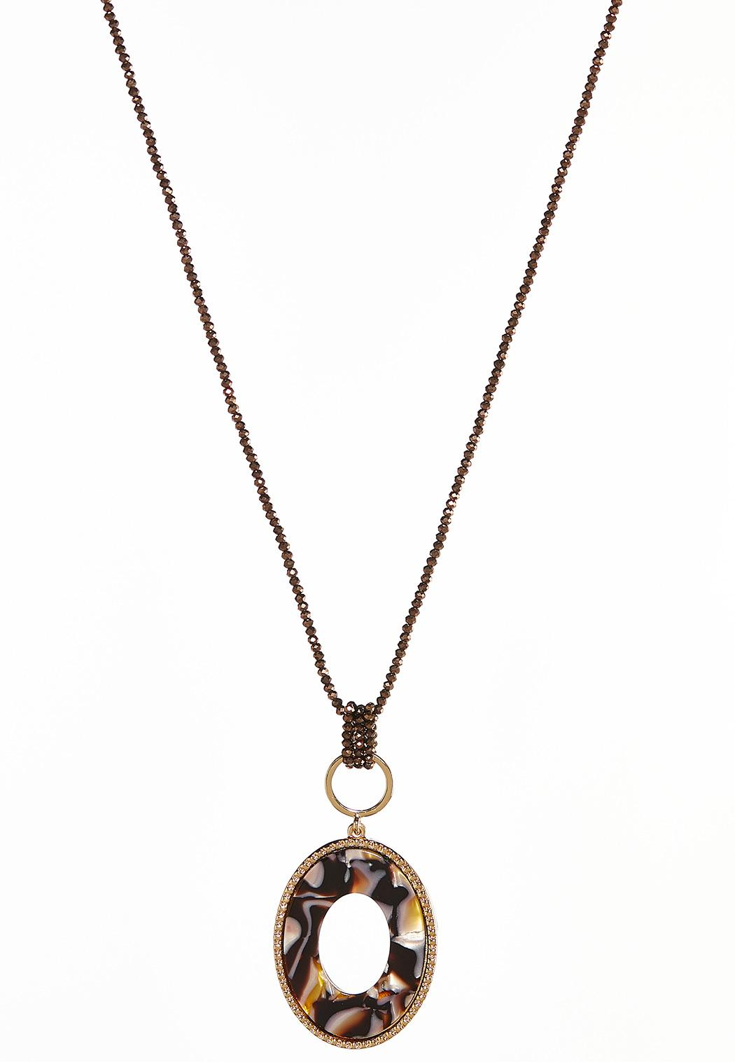 Lucite Oval Necklace