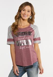 Plus Size Grace and Faith Graphic Tee