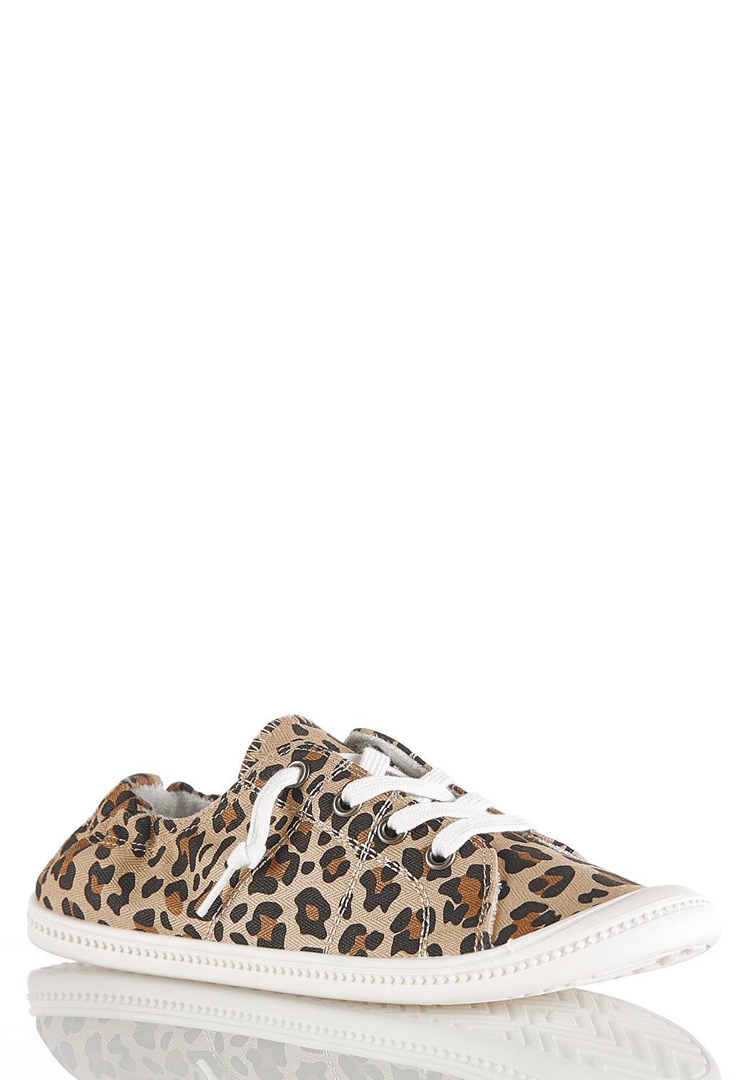 Leopard Scrunch Back Sneakers