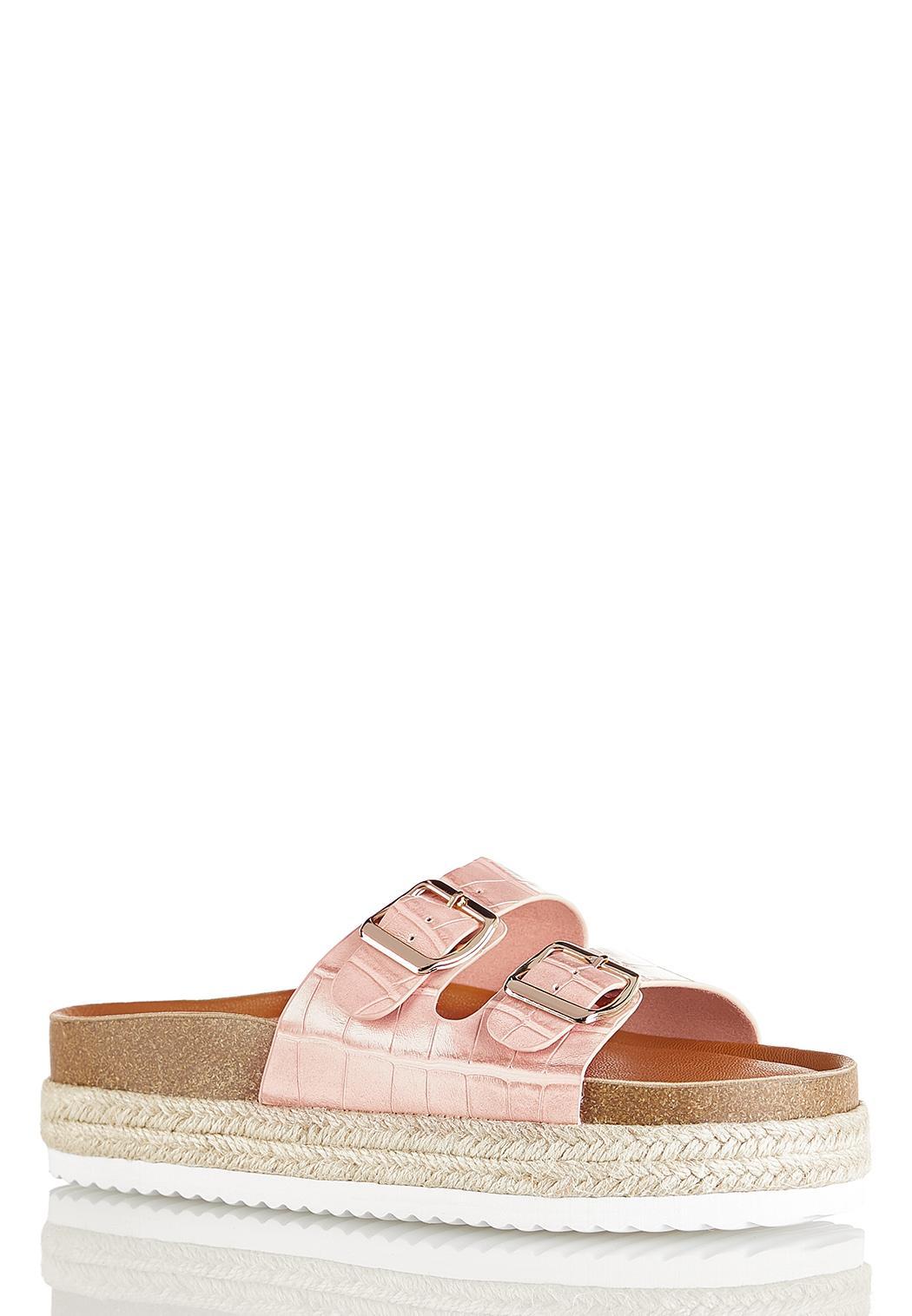 Buckle Band Flatform Sandals