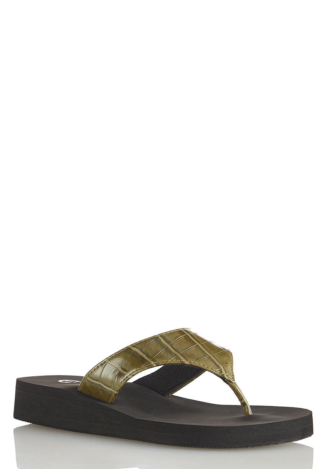 Croc Platform Flip Flops