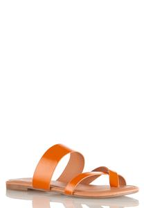 Toe Loop Slide Sandals