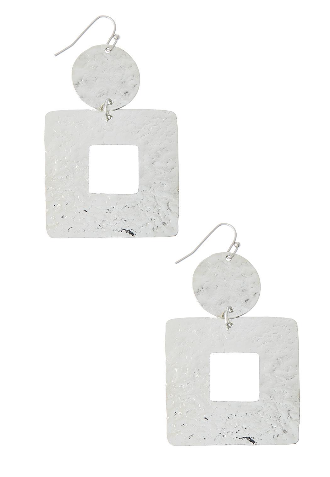 Hammered Metal Geo Earrings