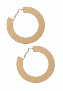 Brushed Metal Flat Hoop Earrings