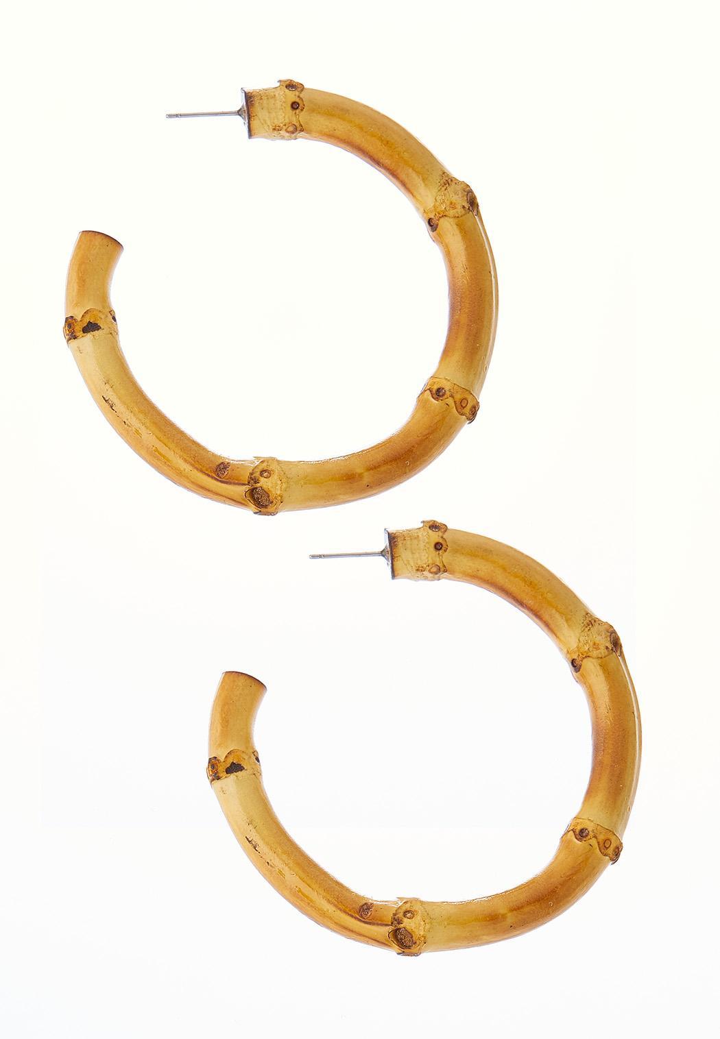 Statement Bamboo Hoop Earrings