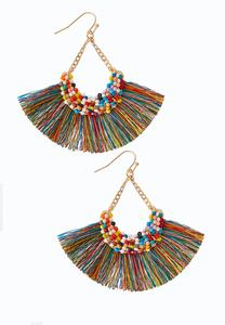 Rainbow Fringe Earrings