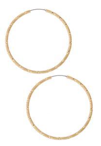 Diamond Cut Hoop Earrings
