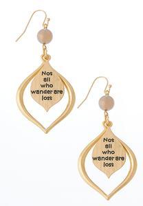 Not All Who Wander Earrings