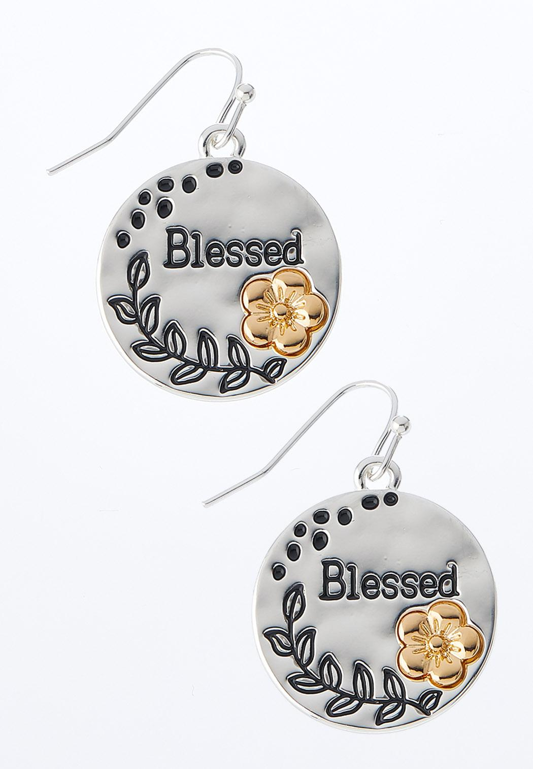 Blessed Silver Disc Earrings