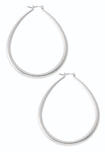Statement Oval Hoop Earrings