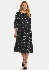 Black White Polka Dot Dress