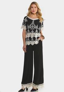 Plus Size Crochet Lace Coordinating Set