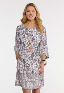 Convertible Paisley Dress