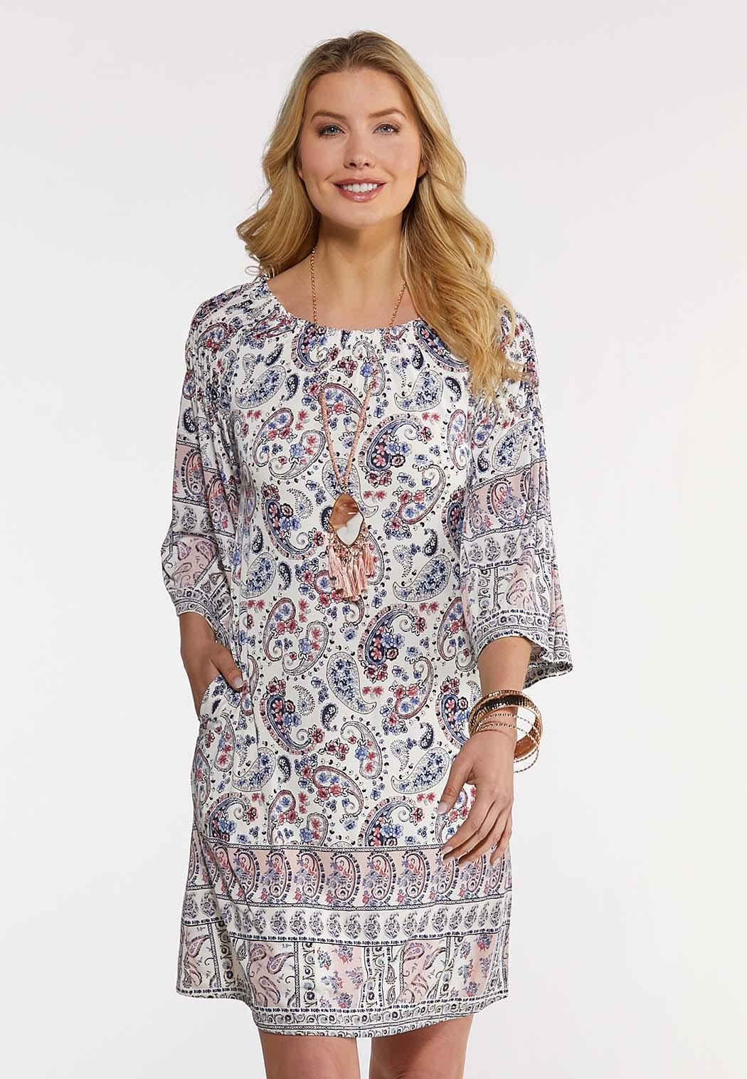 Plus Size Convertible Paisley Dress
