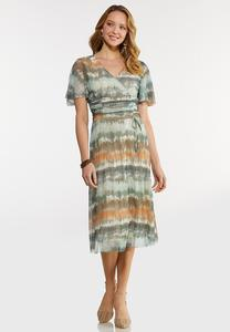 Plus Size Tie Dye Midi Dress