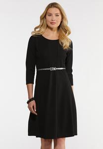 Plus Size Snake Belted Dress