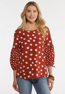 Rust Polka Dot Top