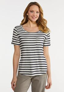 Stripe Front Pocket Tee
