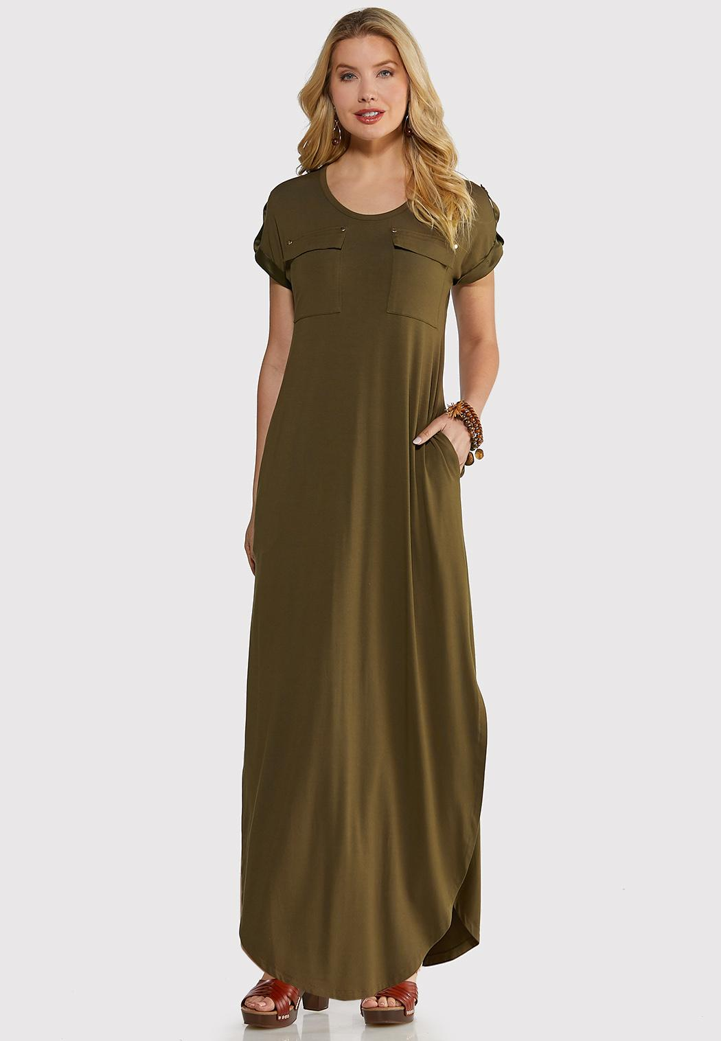 Plus Size Cute Tee Maxi Dress