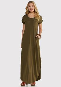 Plus Size Cute Tee Maxi Dress