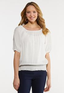 Plus Size Bright White Poet Top