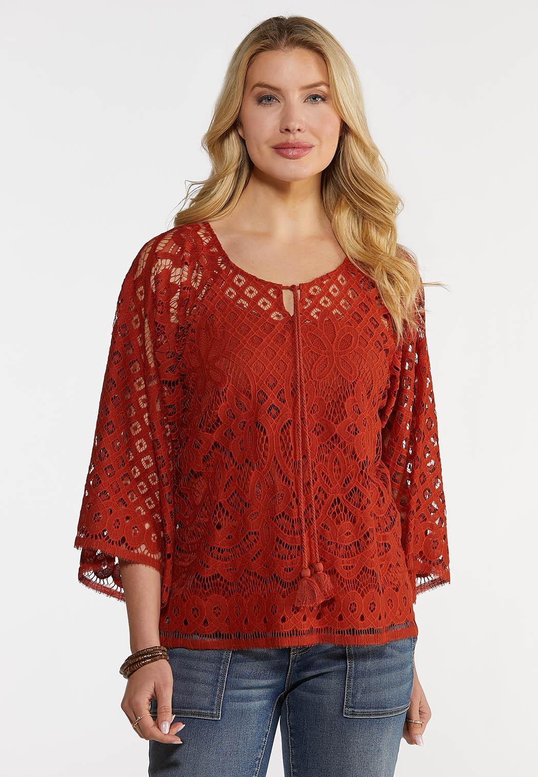 Tassel Tie Crochet Top