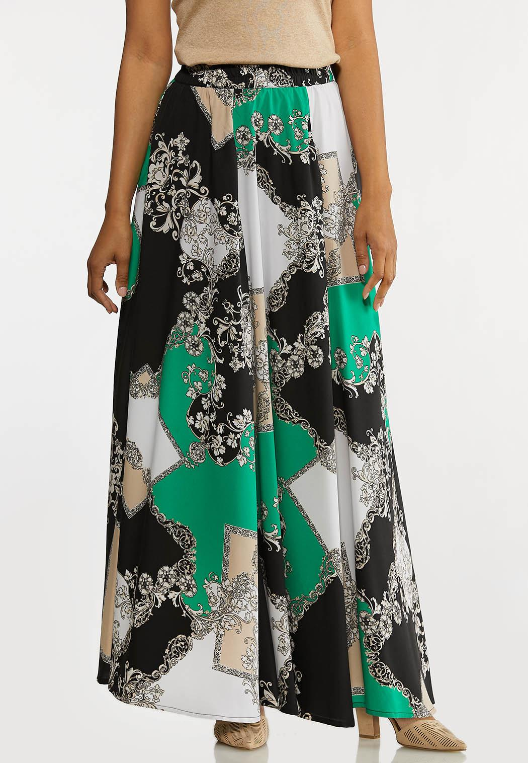 Status Print Maxi Skirt