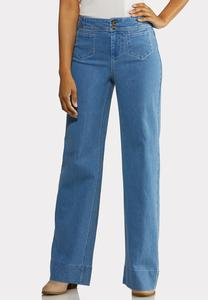 Petite Stitched Trouser Jeans