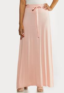 Plus Size Pale Blush Maxi Skirt