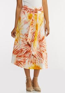 Plus Size Tie Dye Skirt