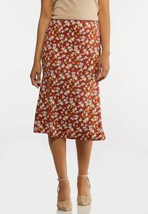 Rust Floral Skirt